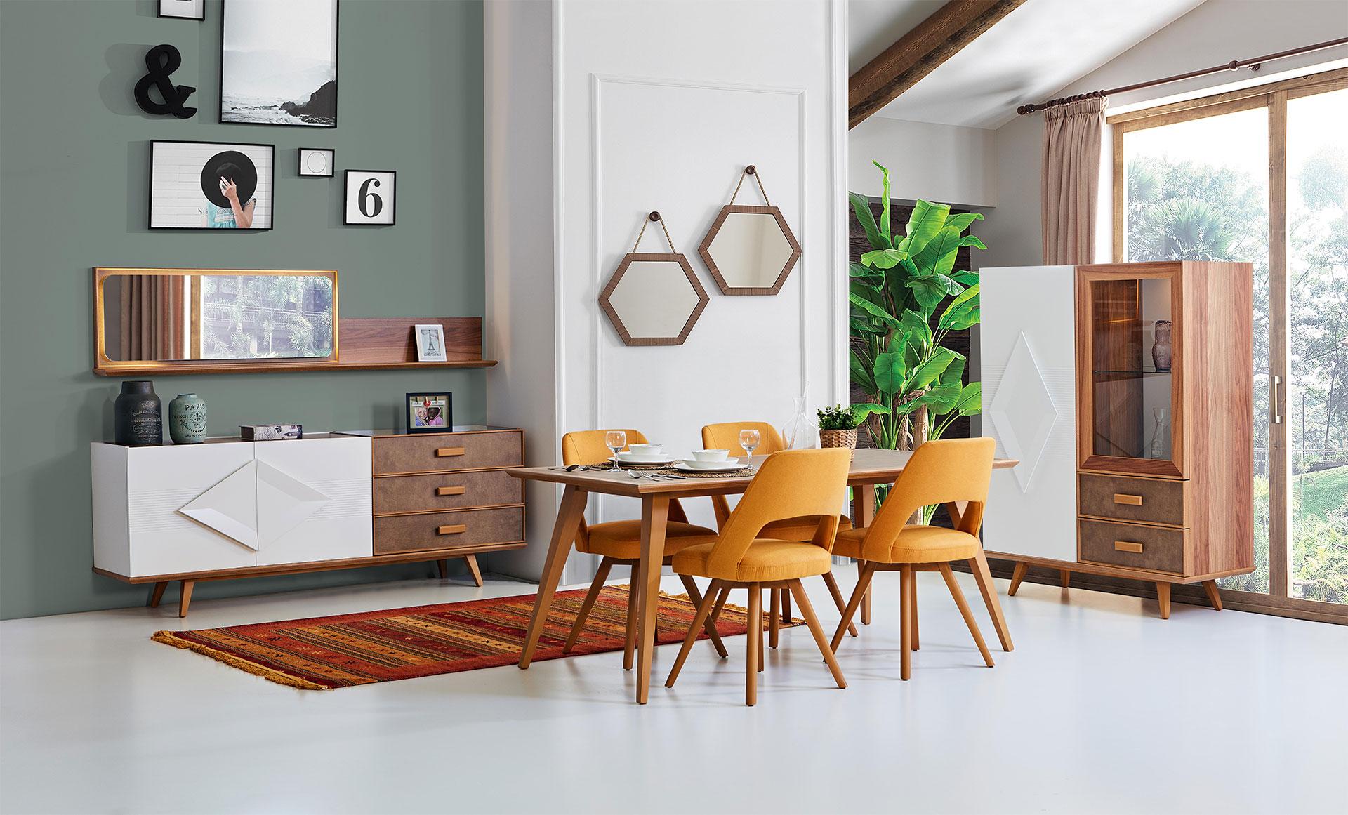 Aura yemek odas tak m hevin mobilya for Mobilya caserta